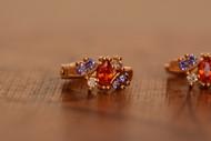 18K Gold Dazzle Zircon AAA Designer Dangle Brass Earrings
