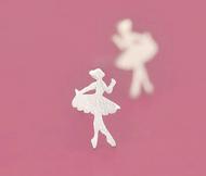 925 Sterling Silver Sweetie Ballet Dancing Girl Earrings