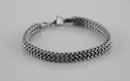 925 Sterling Silver Plated Tibet Chain Fashion 8.7 inch Bracelet Unisex Necklace