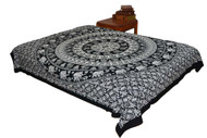 Hippie Black White Mandala Tapestry Bohemian Wall Hanging Throw Dorm Decor