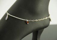 925 Sterling Silver Mix Italy 11 inch Solid Anklet Expandable Women Bracelet