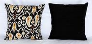 Handmade Black Kantha Threaded Pillow Cushion Covers