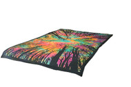 Tie-Dye Psychedelic Forest Mandala Tapestry Wall Hanging Throw Dorm Decor