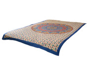Blue Mandala Tapestry Bohemian Wall Hanging Throw Dorm Decor