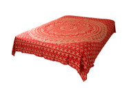 Hippie Red Golden Ombre Mandala Tapestry Bohemian Wall Hanging Throw Dorm