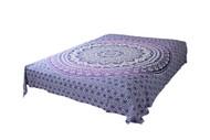 Purple White Ombre Mandala Tapestry Bohemian Wall Hanging Throw Dorm Decor