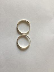 925 Sterling Silver Round Endless Hoop Earrings