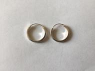925 Sterling Silver Flat Round Endless Hoop Earrings