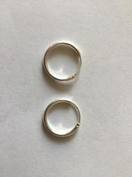 925 Sterling Silver Delicate Round Endless Hoop Earrings
