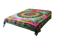 Hippie Tie-Dye Elephant  Mandala Tapestry Bohemian Wall Hanging Throw Dorm