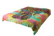 Hippie Black Elephant Mandala Tapestry Bohemian Wall Hanging Throw Dorm Decor