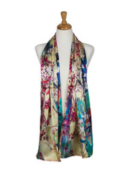 AamiraA Forest Soft Mulberry Satin Silk Stole Women Long Scarf