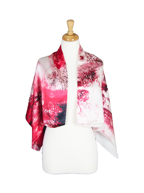 AamiraA Village Mulberry Satin Silk Stole Women Square Scarf