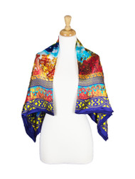 AamiraA Mountain Mulberry Satin Silk Stole Women Square Scarf