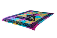 Twin Tie-Dye Seven Point Meditation Yoga Posture Mandala Tapestry Wall Hanging Throw Decor