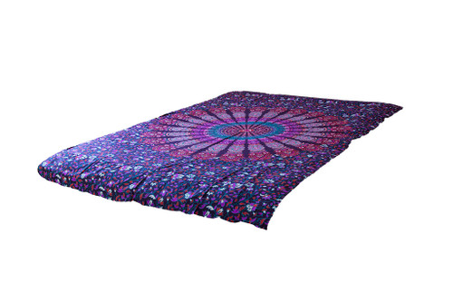 Twin Purple Psychedelic Mandala Tapestry Bohemian Wall Hanging Throw Dorm Decor