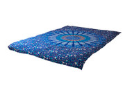Twin Dark Blue Psychedelic Mandala Tapestry Bohemian Wall Hanging Throw Dorm Decor