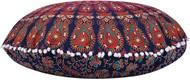 Orange Green Mandala Pillow Ottoman Poufs Cushion Covers