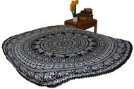 Hippie Black Round Mandala Tapestry Bohemian Wall Hanging Throw Dorm Decor