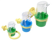 All three Clean Cup Feed & Water Cups shown together