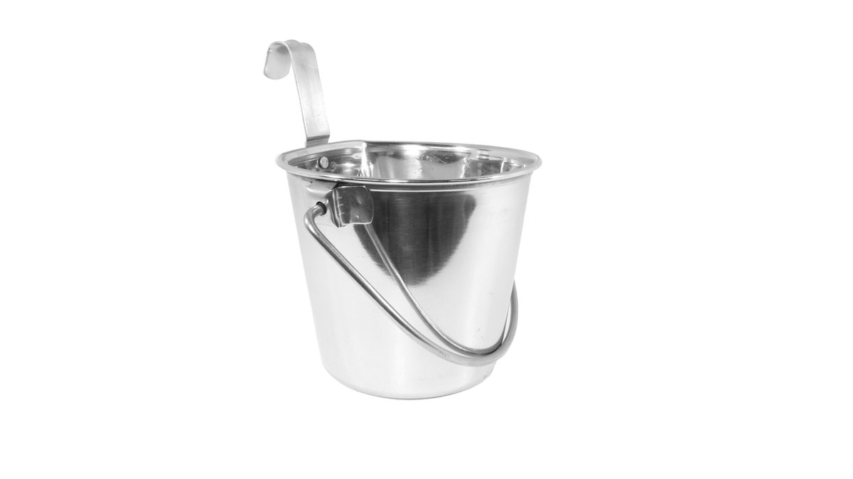 Flat Sided Stainless Steel Bucket