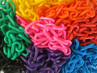 All the colours of the 6mm Plastic Chain shown together