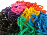All the colours of the 8mm Plastic Chain shown together