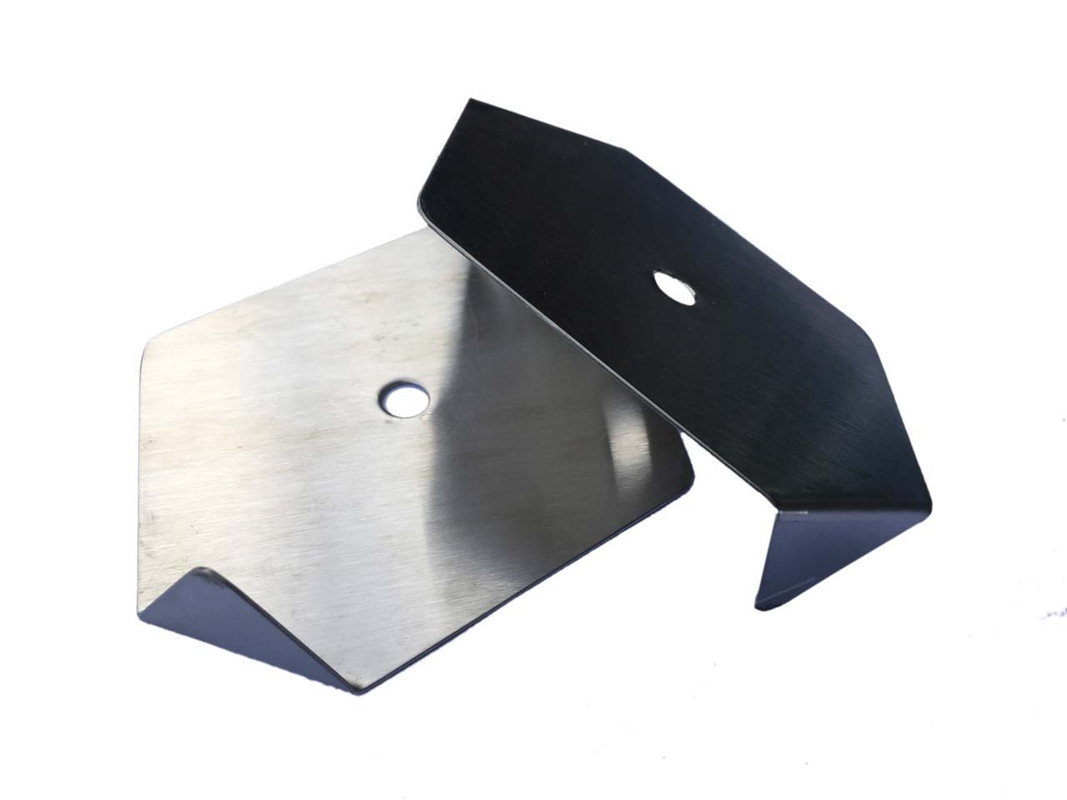 The two parts of the Stainless Steel Paper Roll Holder