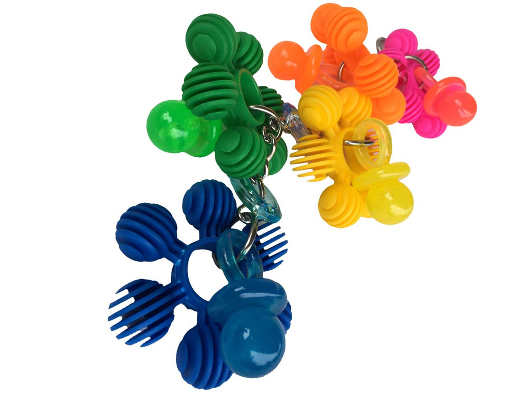 The Flower Power parrot toy.