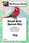 Ingredients of the Small Bird Sprout Mix