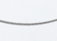14K White Gold Snake Chain 18 inch (0.9mm) - 26172