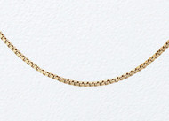14K Yellow Gold Box Chain 18 inch (0.5mm) - 27229