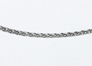 14k White Gold Wheat Link Chain 18 inch (0.9mm) - 29022