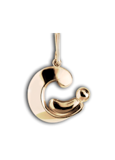 Parent and Child Pendant - 14K Yellow Gold - Charm Pendant