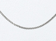 14K White Gold Box Chain 18 inch (0.5mm) - 21266