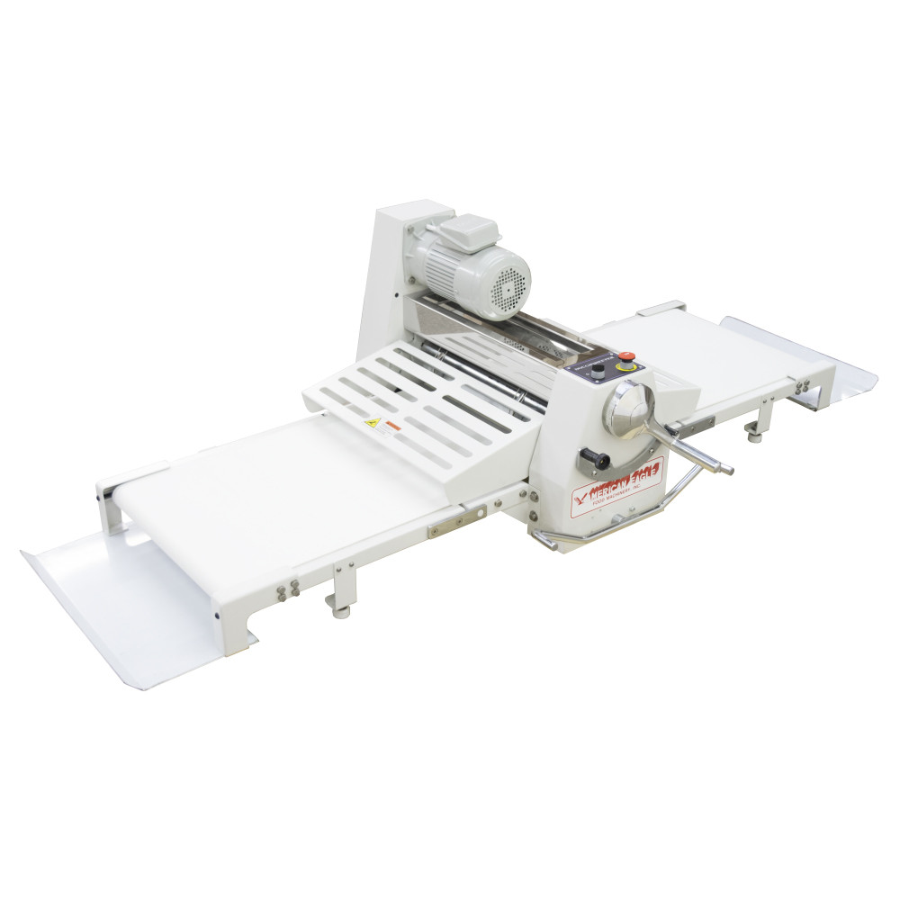 """American Eagle Food Machinery Elite Series Commercial Dough Sheeter, Bench Type 17.75""""W x 71""""L, 220V/1Ph/1/2HP, AE-DSE45B - Side"""