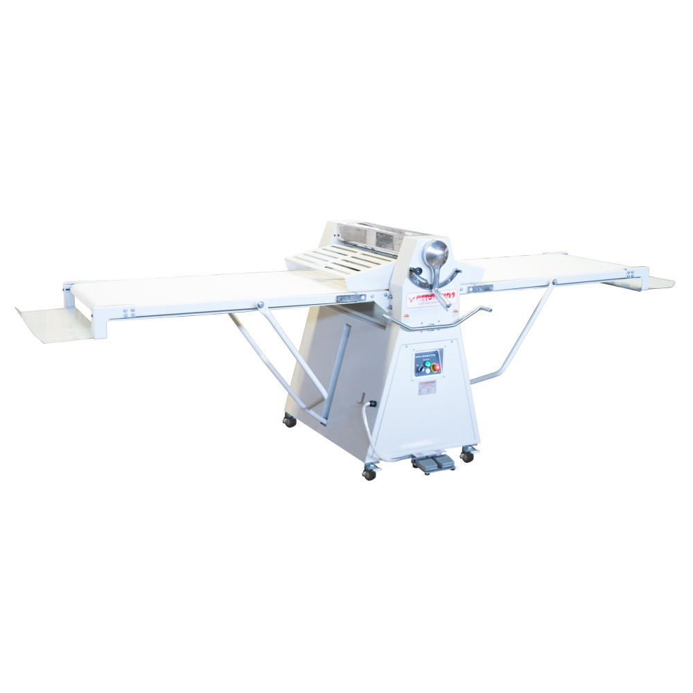"""American Eagle Food Machinery Elite Series Commercial Dough Sheeter, Floor Type 25.5""""W x 118""""L, 220V/1Ph/1HP, AE-DSE65L - Open"""