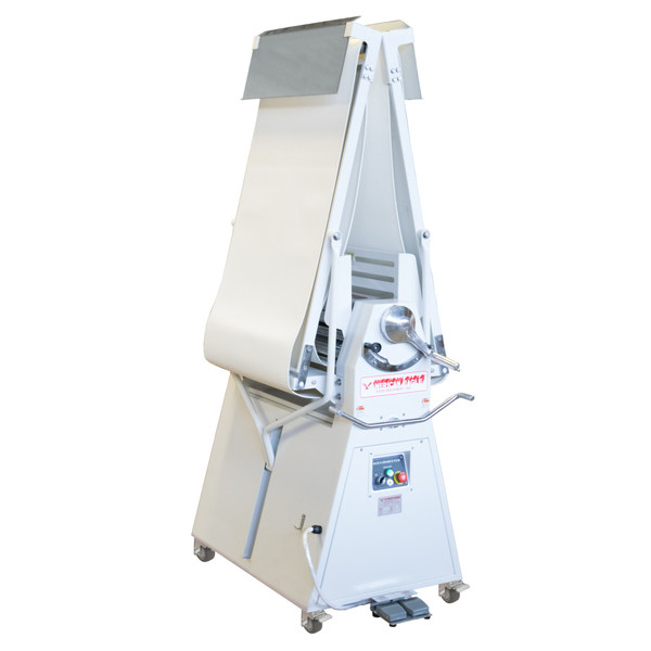 """American Eagle Food Machinery Elite Series Commercial Dough Sheeter, Floor Type 25.5""""W x 118""""L, 220V/1Ph/1HP, AE-DSE65L - Closed"""