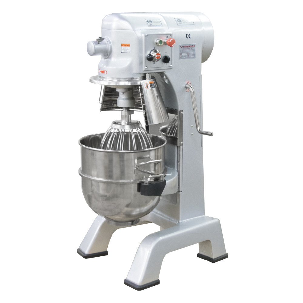 American Eagle Food Machinery 40 Qt Planetary Mixer with Safety Guard, 1.5HP, 3 Speeds, AE-40PA - Guard Open