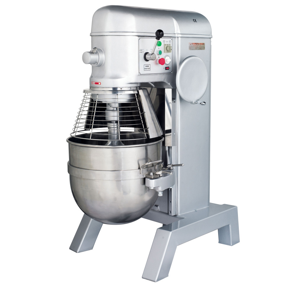 American Eagle Food Machinery 80 Qt Hybrid Belt/Gear Driven Planetary Mixer with Guard, 3HP, 4 Speeds, AE-80P4A