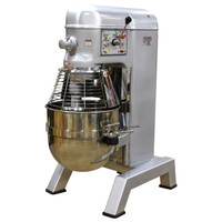American Eagle Food Machinery 80 Qt Hybrid Belt/Gear Driven Planetary Mixer with Guard, 3HP, 4 Speeds, AE-80N4A