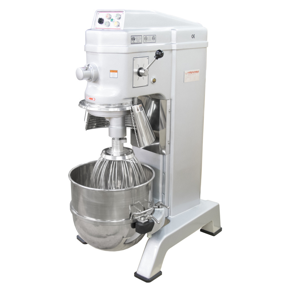 American Eagle Food Machinery 60 Qt Planetary Mixer with Guard & Power Lift, 3HP, 4 Speeds, AE-60N4A - Guard Open