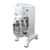 American Eagle Food Machinery 60 Qt Planetary Mixer with Guard & Power Lift, 3HP, 4 Speeds, AE-60N4A - Guard Closed