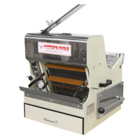 American Eagle Food Machinery Bread Slicer Machine, Front Load with Safety Guard, 1/2HP, AE-BS01