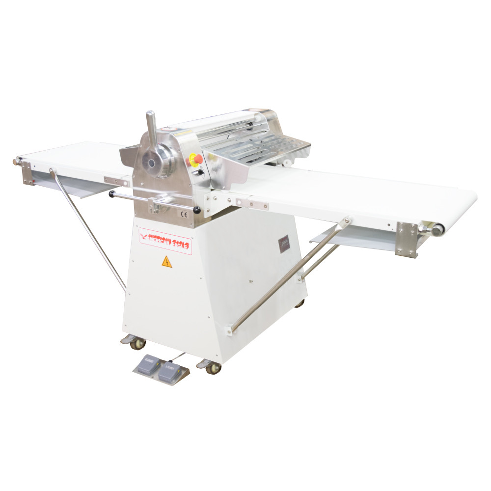 """American Eagle Food Machinery Commercial Dough Sheeter, Floor Type 20.5""""W x 82.75""""L, 220V/1Ph/1/2HP, AE-DS52 - Right View"""