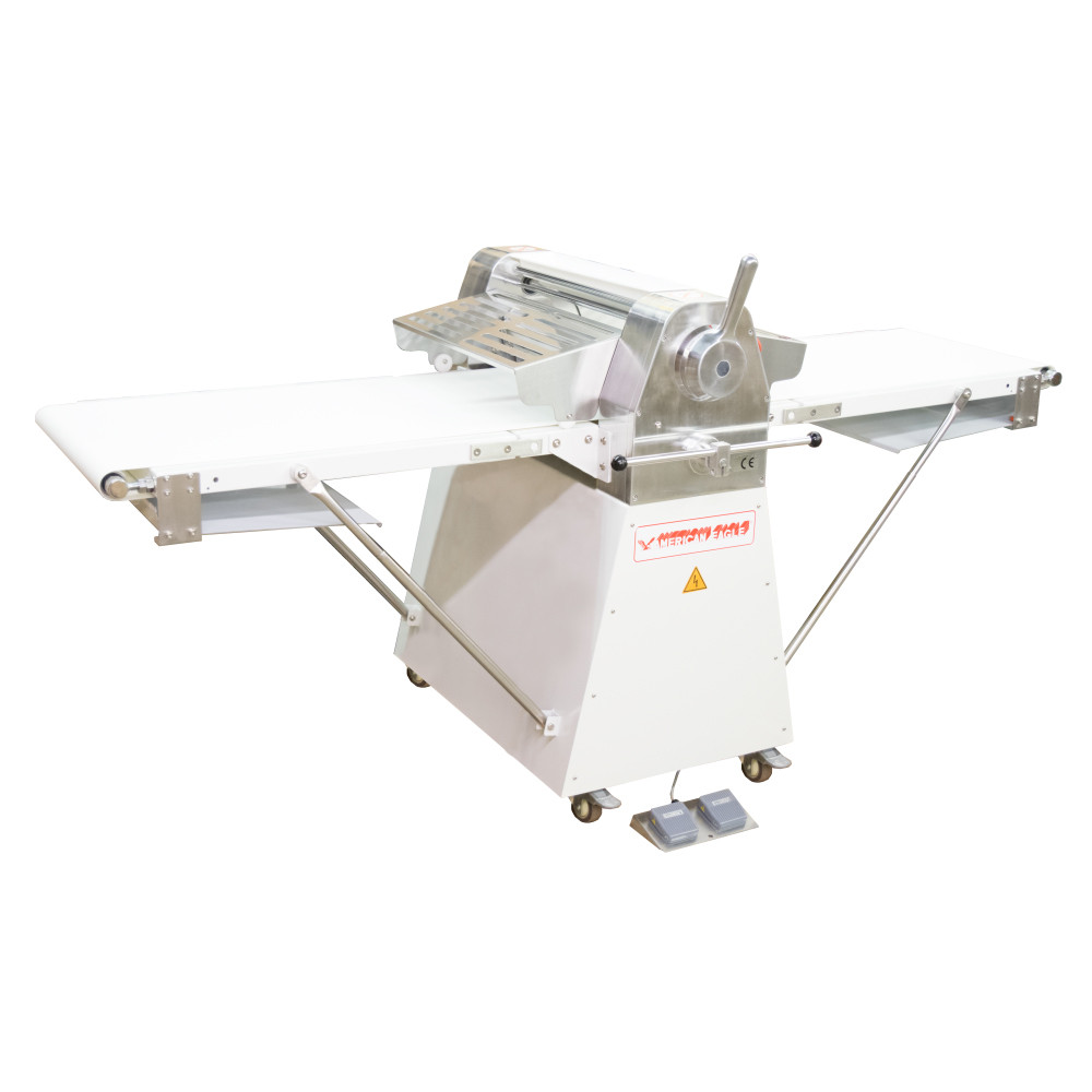 """American Eagle Food Machinery Commercial Dough Sheeter, Floor Type 20.5""""W x 82.75""""L, 220V/1Ph/1/2HP, AE-DS52 - Left View"""