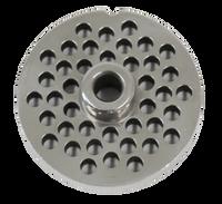 American Eagle Food Machinery #12 Meat Grinder Plate, 6mm, 1/4 inch, AE-G12N/08-06