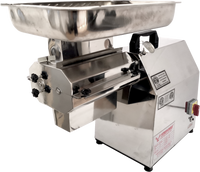 American Eagle Food Machinery Stainless Steel, 1.5HP Commercial Electric High Volume Meat Cutter Kit, AE-GMC22N