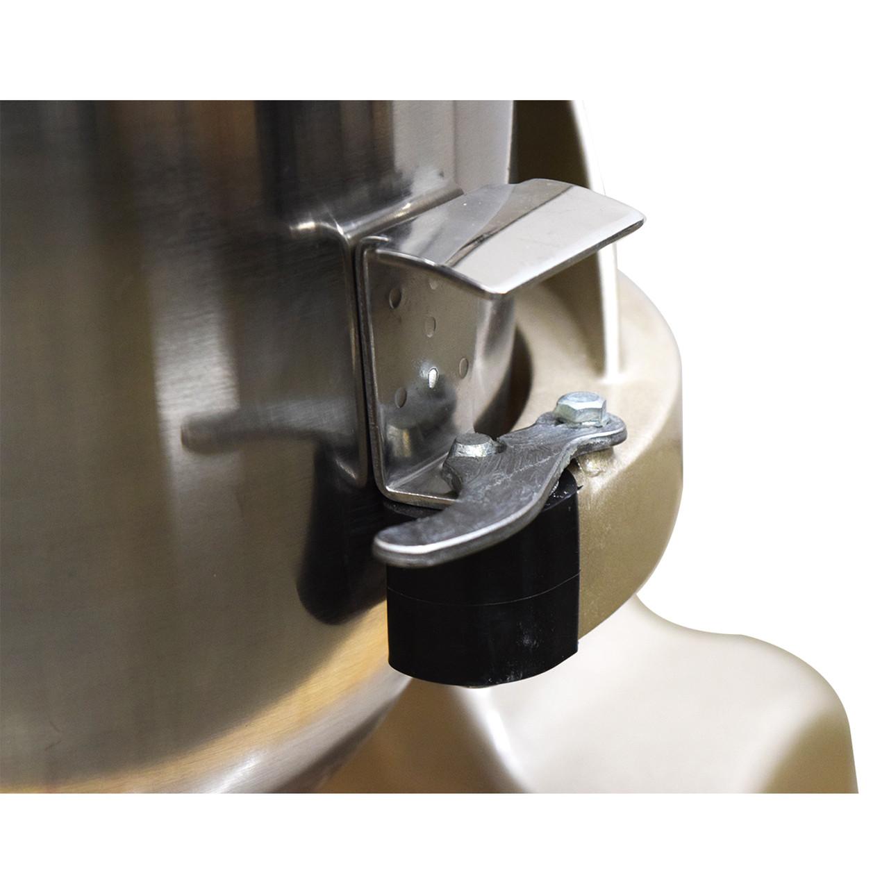 AE-20GA 20 Quart Commercial Planetary Mixer Bowl Right Arm Detail And Bowl Lock