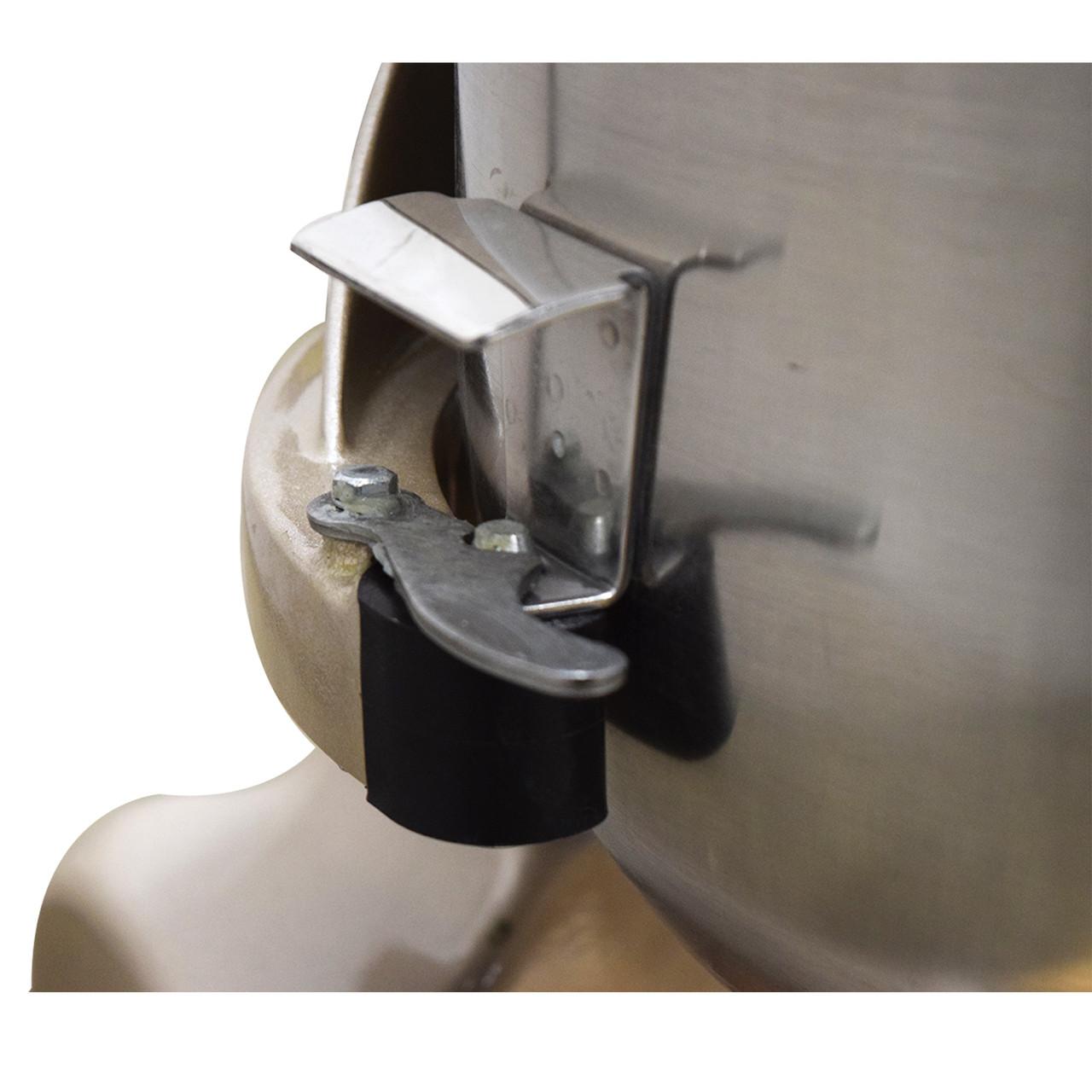 AE-20GA 20 Quart Commercial Planetary Mixer Bowl Left Arm Detail And Bowl Lock